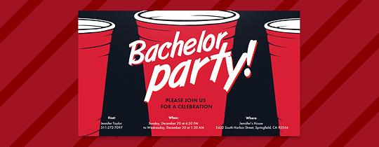 Red Cups Invitation