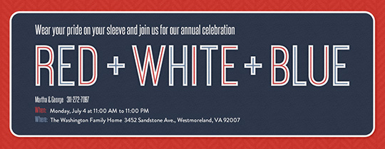 red white and blue invitations templates juve cenitdelacabrera co