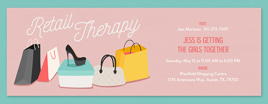 Retail Therapy Invitation
