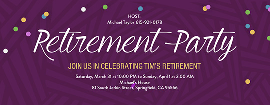Retirement Stripes Invitation