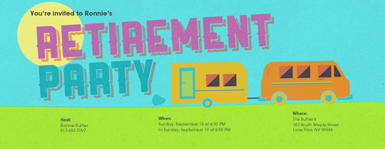 Retirement Van Invitation