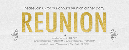 Reunion Invitation Invitation