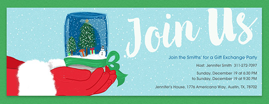Santa Join Us Invitation