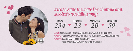 Save the Date Countdown Invitation