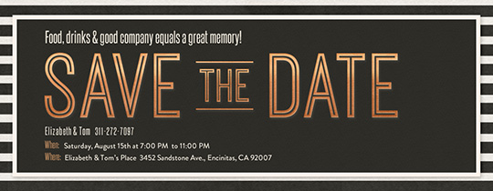 Save the Date Mingle Invitation
