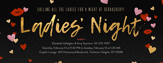 Single Ladies Night Invitation