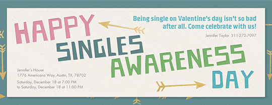 Singles Awareness Day 2/15 Invitation