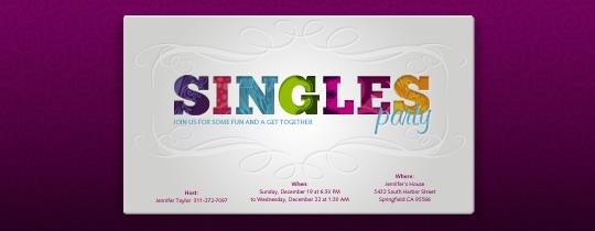 Singles Party Invitation