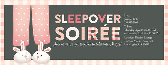 Sleep Over Soiree Invitation