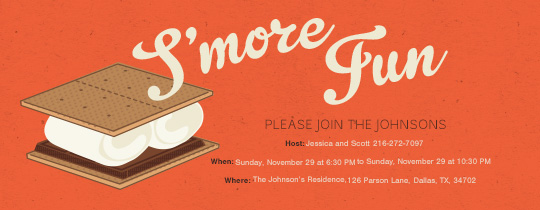 Smore Fun Invitation