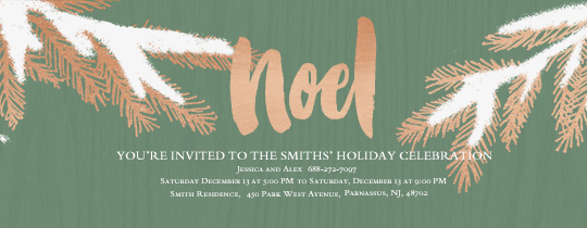 Snowy Noel Invitation