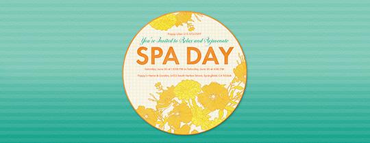 Spring Spa Invitation