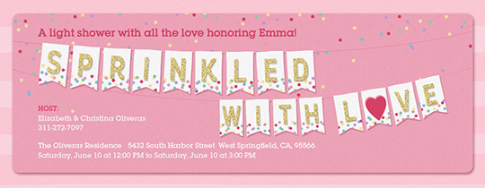 Sprinkled with Love Bunting Invitation