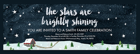 Starry Sky Invitation