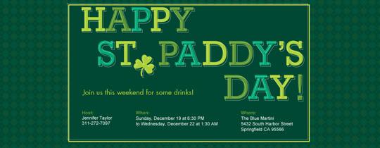 St. Paddy's Invitation