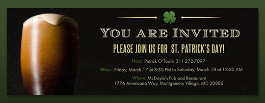 St. Paddy's Stout Invitation