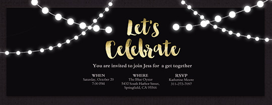 Dinner Party Free Online Invitations – Cocktail Party Invitation Template