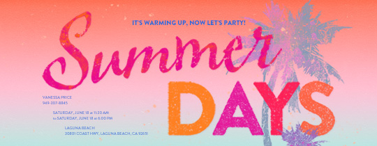 Summer Days Invitation