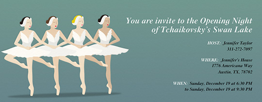 Swan Lake Invitation