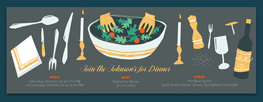 Free Dinner Party Invitations | Evite