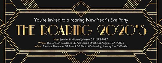 The Roaring 20s Invitation