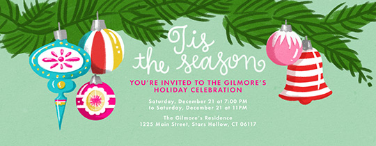 Tis' the Season Branches Invitation