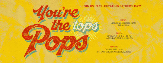 Tops Pops Invitation