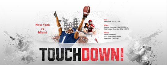 Touchdown Invitation