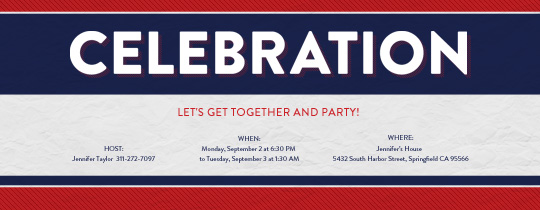 USA Celebration Invitation