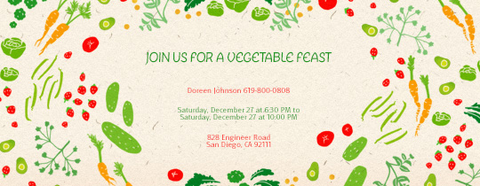 Vegetable Fest Invitation