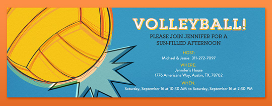 Volleyball Invitation