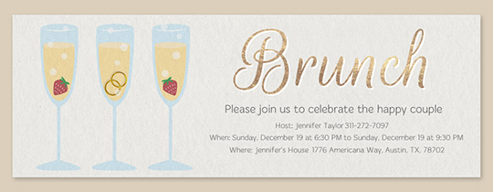 Post Wedding Brunch Free Online Invitations