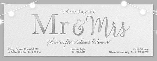 Wedding Mr Mrs Invitation. Free