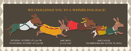 Weiner Race Invitation