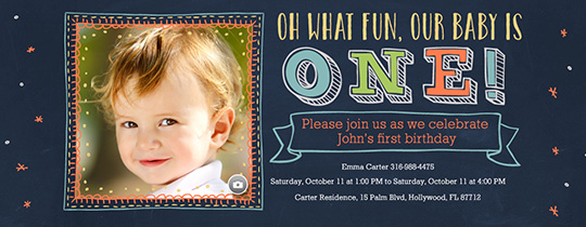 What Fun One Invitation