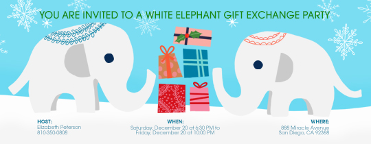 White Elephant Exchange Invitation