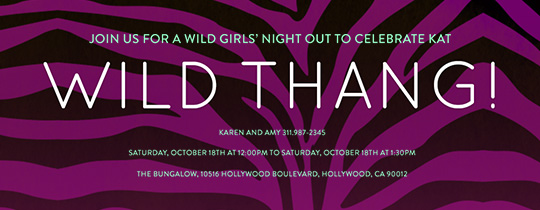 Wild Thang Invitation