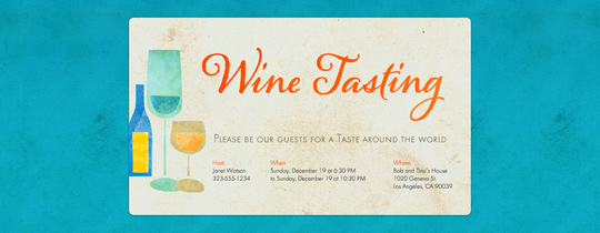 House Party free online invitations – Wine Tasting Party Invitation Wording