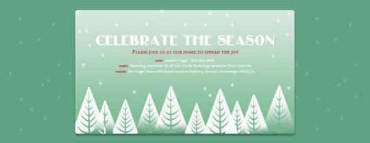 Winter Trees Invitation