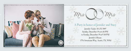 Winter Wedding Band Mrs & Mrs Invitation