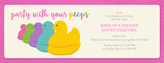 Your Peeps Pink Invitation